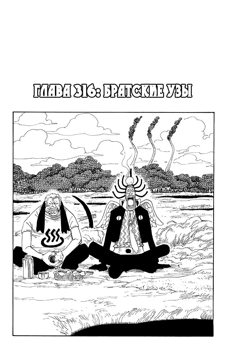 Манга One Piece / Ван Пис Манга One Piece Глава # 316 - Братские узы, страница 1